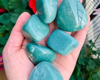 Medium Tumbled Green Aventurine Crystals