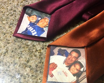Father of the bride gift, memory photo neck tie