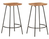 Bar Stools 2 or 4 Stools Solid Acacia Wood Beautifully Designed And Well Crafted