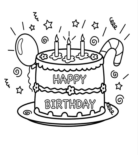 Happy Birthday Coloring Pages. 40 pages