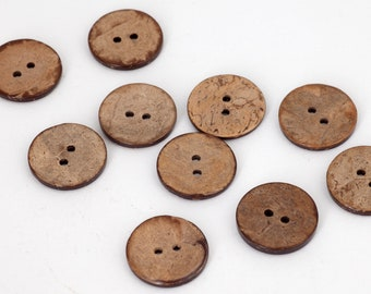 10 coconut buttons 20 mm