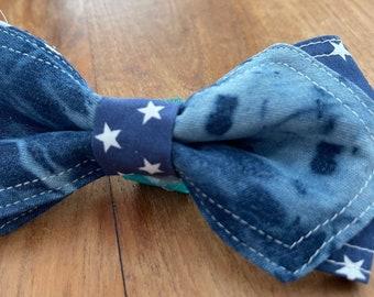 Denim stars Bow Tie