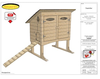 Chicken coop plan (French)