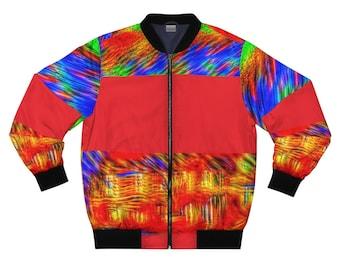 Men Bomber Jacket, All Over Printed Jacket, Casual Bomber Jacket, Streetwear Zipper Jacket, Stylish Men Jacket, AOP Bomber Jacket Gifts