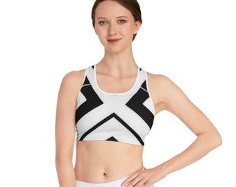 Sports Bra (AOP), No-Bounce Sports Bra, Racerback Bra, extra Support High Impact Sports Bra, High Elastic Yoga Bra, Gym Running Workout Bra
