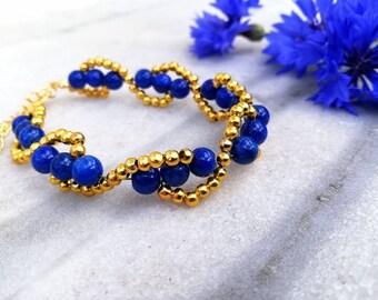 Ran 1.0 | Armband med mörkblå jade