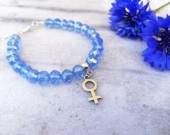 Hlin 1.0 | Armband med feminist-symbol