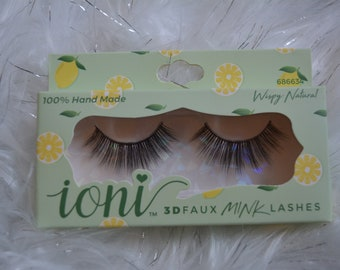 Ioni Faux Mink Lashes (Wispy Natural)