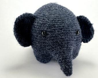 EMERY THE ELEPHANT - handmade amigurumi crocheted stuffed animal plushie