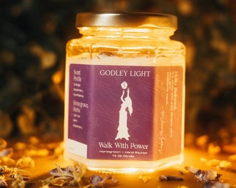 Walk with Power Herbal Intentional Candle