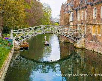 Cambridge University Wall Art & Limited Edition Prints-Cambridge Punts-Punting River Cam- Unframed or Ready to Hang-Canvas-Art Panel-Framed