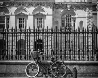 Bicycle Wall Art and Fine Art Prints- Cambridge Bicycle Prints- Black and White-Unframed or Ready to Hang-Canvas-Art Panel-Framed