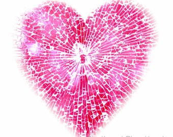 Contemporary Heart Limited Edition Unframed Print in Custom Sizes & ready to hang wall art  art panels, canvas, box frame- modern art