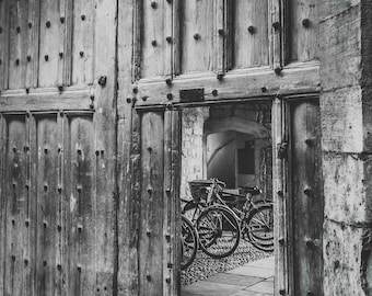 Bicycle Cyclist Wall Art and Fine Art Prints- Cambridge Bicycle Prints- Unframed or Ready to Hang-Canvas-Art Panel-Framed