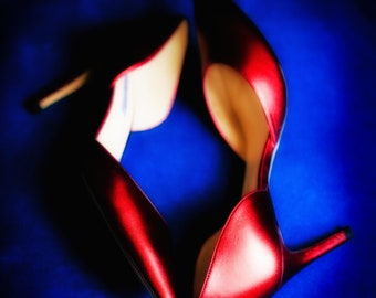 Red High Heeled Shoes Wall Art and Fine Art Prints-Photography-Dressing Room Wall Art- Unframed or Ready to Hang-Canvas-Art Panel Shoe Art