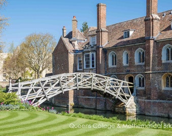Cambridge University Wall Art & Limited Edition Fine Art Prints-Queens College-Unframed or Ready to Hang-Canvas-Art Panel-Framed