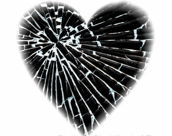 Contemporary Heart Limited Edition Unframed Print in Custom Sizes & ready to hang wall art - art panels, canvas, box frame- modern art