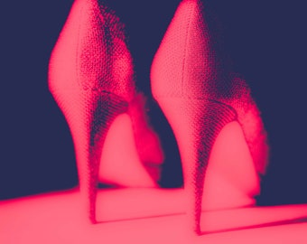 High Heeled Shoes Wall Art and Fine Art Prints-Shoes Photography-Dressing Room Wall Art- Unframed or Ready to Hang-Canvas-Art Panel Shoe Art