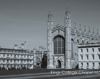 Kings College Cambridge University Wall Art and Fine Art Prints- Kings College Chapel- Unframed or Ready to Hang-Canvas-Art Panel-Framed