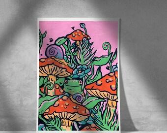 Hidden Frog Print