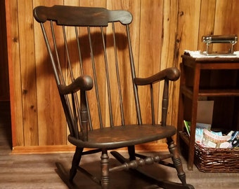 Antique Windsor-style Rocking Chair