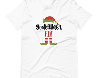 GodFather Elf T-Shirt, Christmas Shirt, Elf family, Elf Shirt, Elf Family Shirt