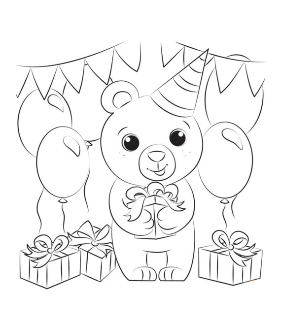 Coloring Book Pages For Kids Adults & Families  Birthday