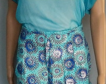 Glossy loincloth skirt