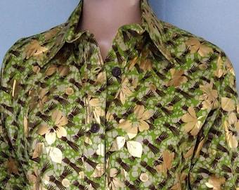 Shirt in golden loincloth fabric origin Benin