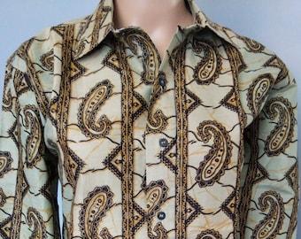 Cotton shirt cashmere patterns Size L