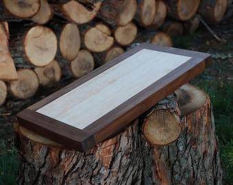 "Large Edge Grain Cutting Board - Cherry, Sapele 18.25""x9.5""x1.125"""
