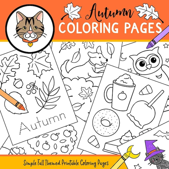 Autumn Coloring Pages 4K Quality. 61 Autumn printable coloring
