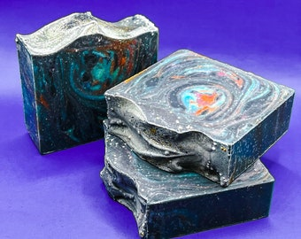 Supernova Galaxy Effect Natural Handmade Soap For Men | Gifts For Men | Sensitive Skin | Space Soap | Vegan Friendly