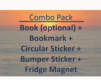 Thriving Empath Combo Pack with book (optional) plus bookmarks, stickers, and fridge magnet