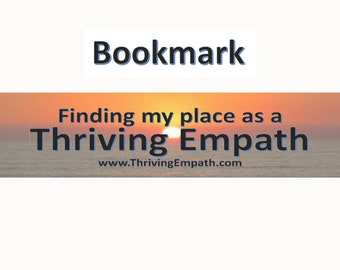 Thriving Empath Bookmark