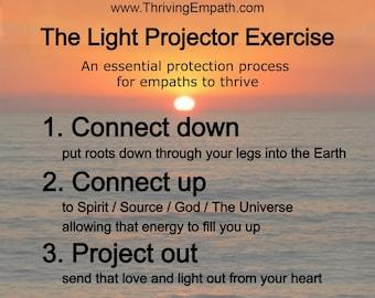 Empath protection reminder: Fridge magnet