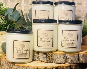 5 Candle Bundle | Handmade 8 oz Pure Soy Candle|100% Natural Soy Wax | Home Decor| Vegan | Ecofriendly | Cruelty Free | Gift options | Fall