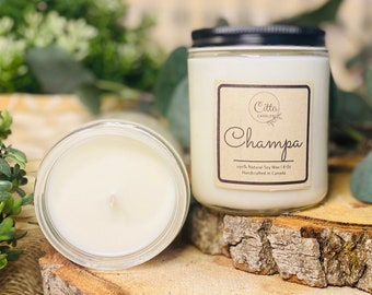 Champa | Handmade 8 oz Pure Soy Candle|100% Natural Soy Wax | Home Decor | Vegan | Ecofriendly | Cruelty Free | Birthday Gift