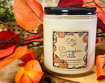 Pumpkin Patch | Fall | Halloween | Autumn | Thanksgiving | Handmade 8 oz Pure Soy Candle| Home Decor |  Vegan |Cruelty Free | Birthday Gift