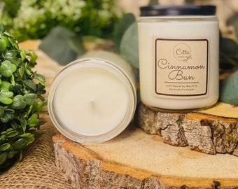 Cinnamon Bun | Handmade 8 oz Pure Soy Candle|100% Natural Soy Wax | Home Decor | Vegan | Ecofriendly | Cruelty Free | Birthday Gift