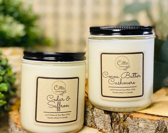 2 Candle Bundle | Handmade 8 oz Pure Soy Candle|100% Natural Soy Wax | Home Decor | Vegan | Ecofriendly | Cruelty Free | any occasion Gift