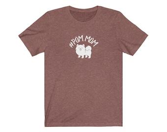 Hashtag Pom Mom/pomeranian mom shirt/pom mom tee/funny pomeranian shirt/pomeranian shirt/pomeranian tee/pomeranian mom gift/USA