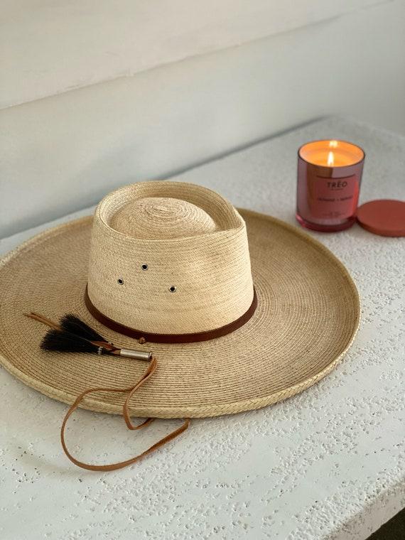 Blonde Wide Brim Hat - image 2
