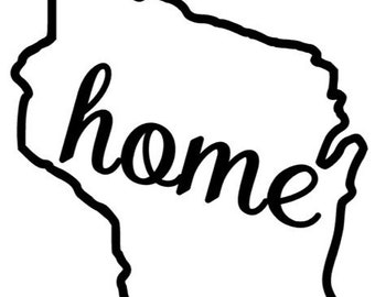 """State """"Home"""" Stickers/Decals"""