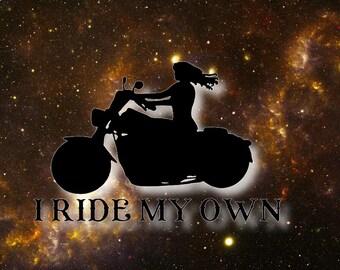 Lady Rider Decal/Sticker