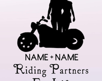 Motorcycle Riding Partners Custom Decal