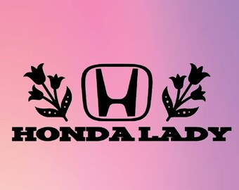 Honda Lady Window Decal
