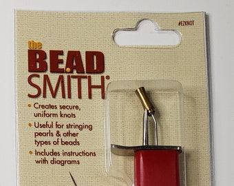Bead Knotter tool by Beadsmith for creating knots between beads on handstring jewelry