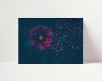 Photo Art Life In Colour - Digital Instant Download - Poster Wall Art - Inspirational Words - Flower Decor
