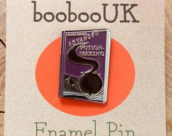 Advanced Potion Making Spell Book Enamel Pin - Harry Potter Badge Brooch Lapel